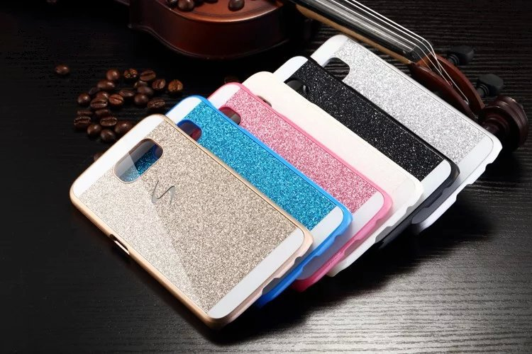 Fashion Luxury Bling Shinning Glitter Back Cover for Samsung Galaxy S7 S7 Edge S Line Sparkling Case