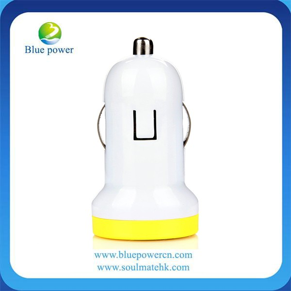 5V 1A Wholesale 1Port USB Portable Car battery Charger, Customized Colorful Mini Universal Car Charger for iphone