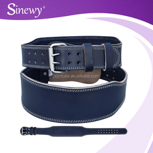 2015 Power blue lifting belt gym weight lifting belts leather colored