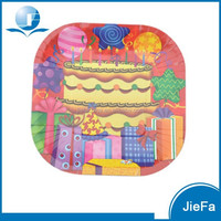 China Supplier Low Price Animal Print Paper Plates and Custom Paper Plate