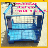 Collapsible Wire Mesh Steel Pallet Boxes for Sale