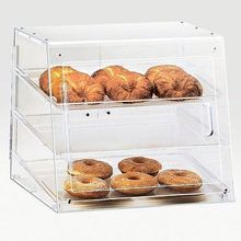 professional high transparent food safety acrylic bread display container