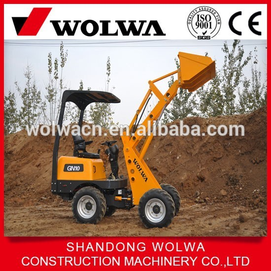Wolwa mini tractors with front end wheel loader and backhoe GN10 for sale