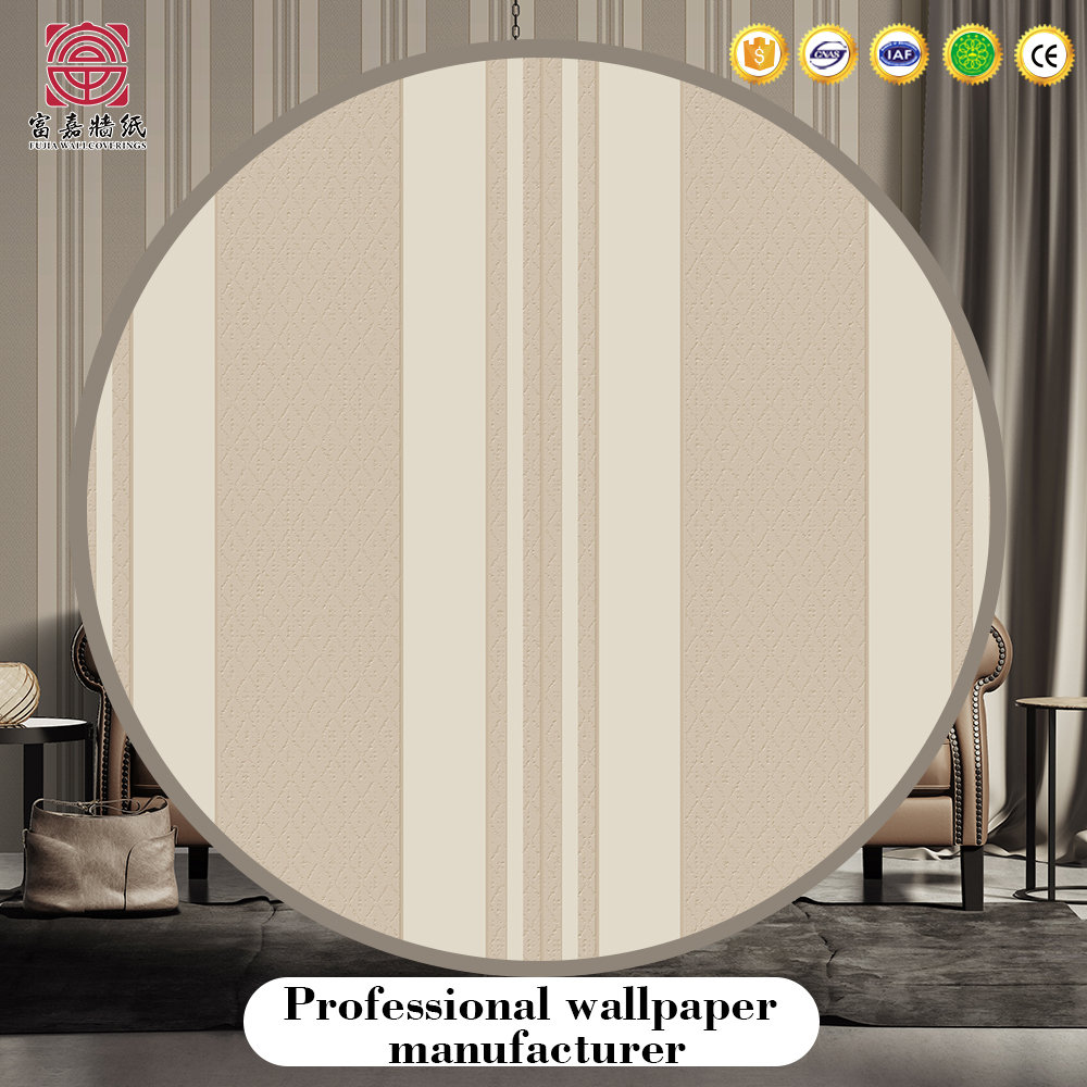 Promotional no-moven wallpaper fiber glass decoration cloth multi color wallcovering