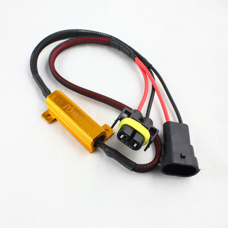 50W 6ohm Led Load Resistor H1 H3 H4 H7 H8 H11 9005 9006 880 881 Xenon <strong>HID</strong> LED HeadLight DRL Fog <strong>Light</strong> Wiring Canceller Decoder
