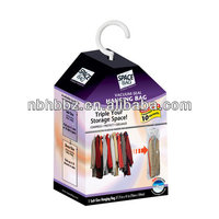 Plastic Hanging Vacuum Storage Bag with Hanger For Clothes Storing