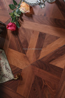 Best price black walnut parquet wood flooring
