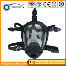 Premium anti smoking face respirator, silicone cylindrical full face safety gas mask with double protection filter