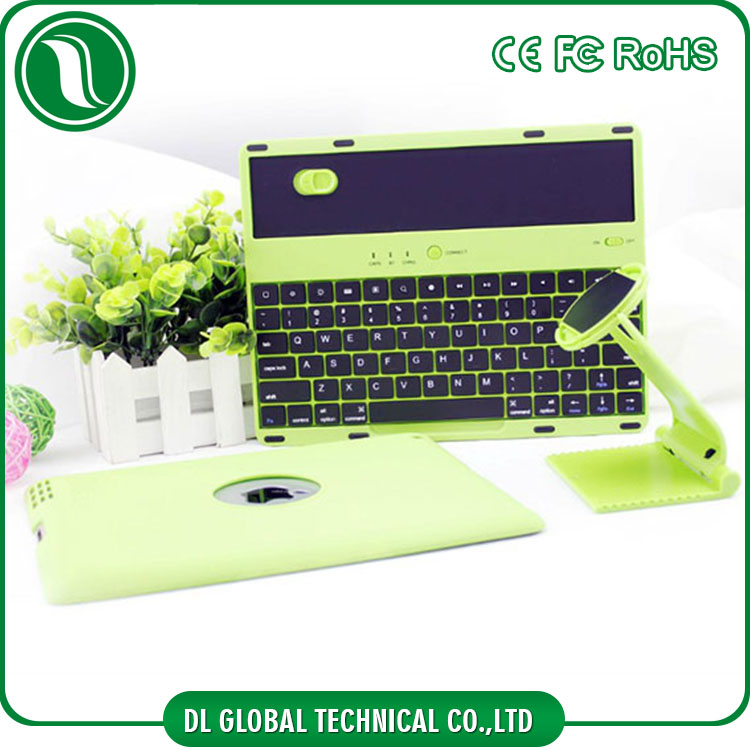 360 degree angle adjustable and detached Wireless Keyboard cover for ipad 3 plastic case
