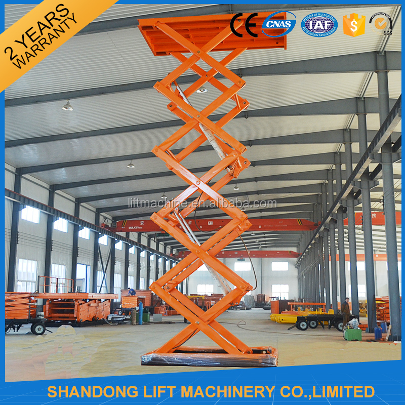 CE stationary scissor hydraulic lifter