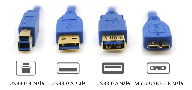 USB 3.0 AM to BM Cable for USB 3.0 device