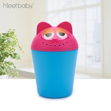 Hot Cute Design Baby Bathroom Accessories Plastic Bath Shampoo Cup Shower Rinse Cup