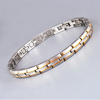 Elegant Vacuum IP Gold Plated Stainless Steel Magnetic Bracelets