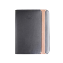 A4 PU leather portfolio business document bestand map met rits sluiting