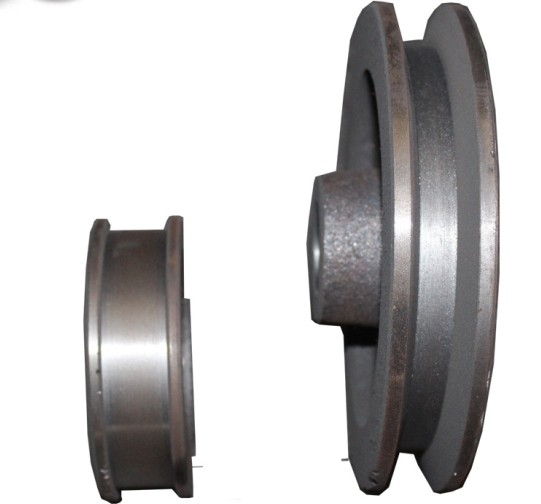 Custom iron casting belt pulley wheel for motor,cast iron V belt pulley wheel,cast iron pulley wheels