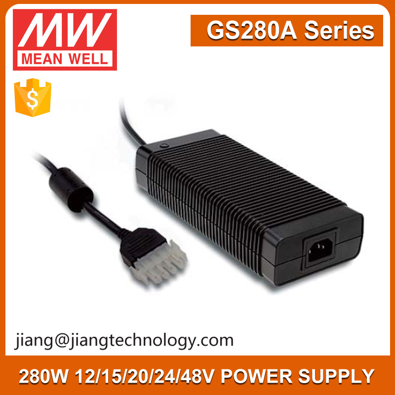 280W 220V 20V AC Transformer GS280A20-C4P Meanwell South Africa to EU Adaptor