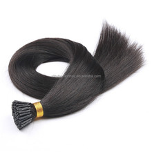Alibaba trade assurance best quality double drawn keratin i tip hair extension