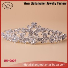 2015 Fashion rhinestone princess wedding bridal tiaras and crowns for lady