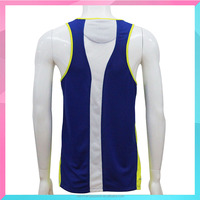 manufacturer blue sleeveless breathable sportswear for men
