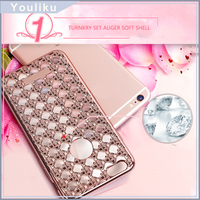 Fashion Lady Pearl Electroplating Cell Phone Case For Iphone 6s / 6s plus / 5SE ,Shockproof Case Covers For Samsung A510