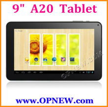 "9"" allwinner A20 Dual Core Tablet PC Android 4.2 1.2GHz, External 3G, Wi-Fi & Capacitive Touch, OPNEW 1080P"
