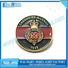 Royal enamel custom crown design memorial Insignia