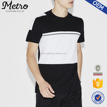 Fashion Custom Design Men's White And Black Mix T-shirt