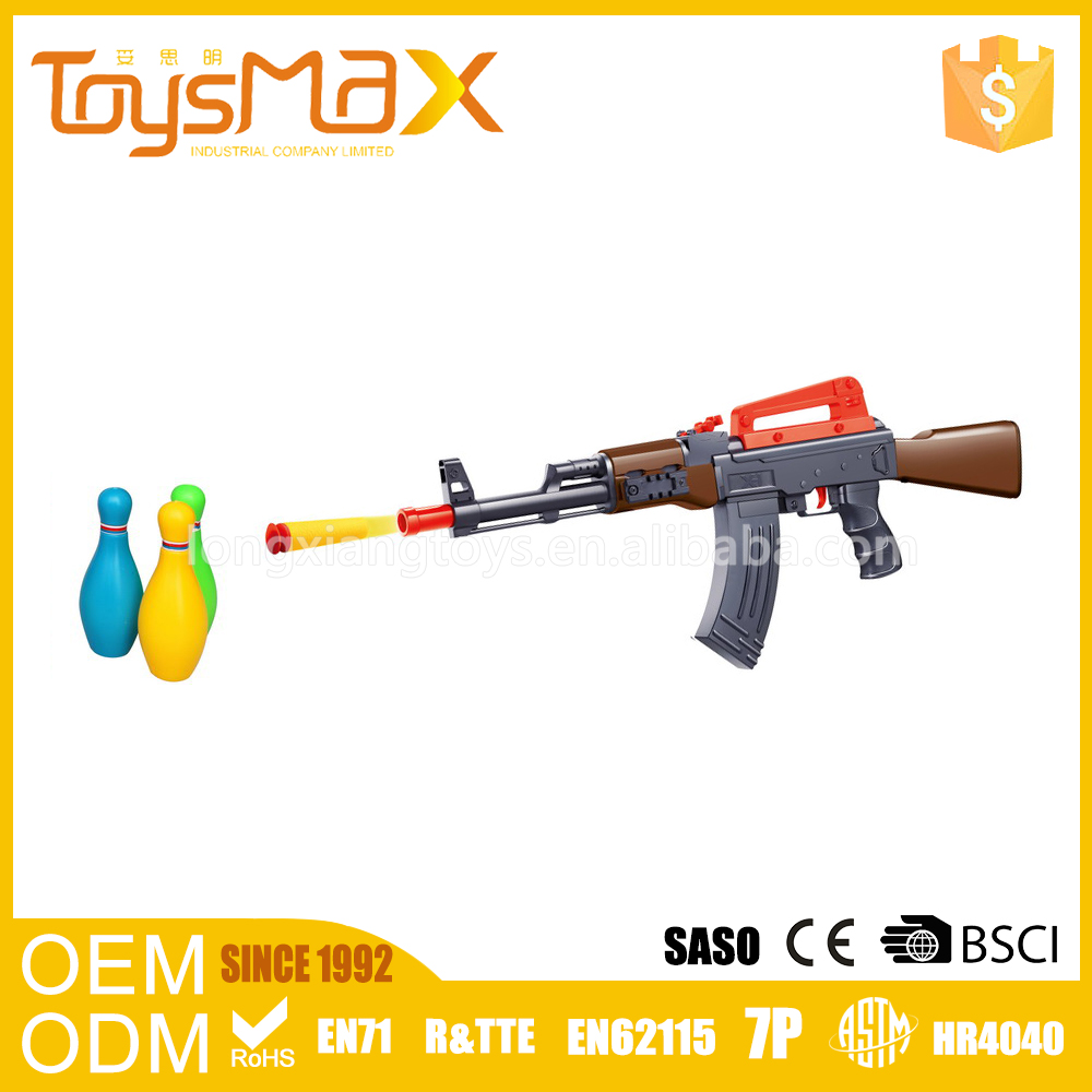 Wholesale water and soft bomb plastic kid's funny airsof gun with bowling ball