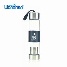 glass water bottle with infuser for tea drink metal cup