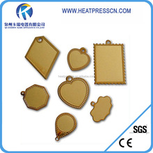 Fashion Sublimation 18k golden pendent