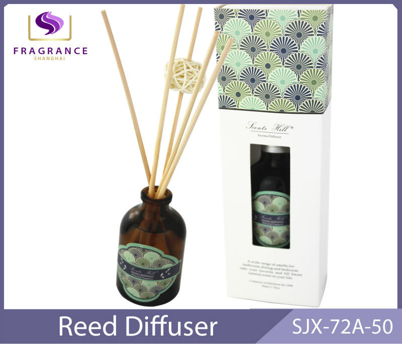 decorative glass bottle reed diffuser SJX-72A-50