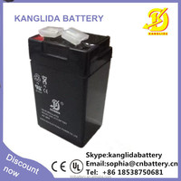 rechargeable deep cycle lead acid maintenance free storage battery 4v2ah