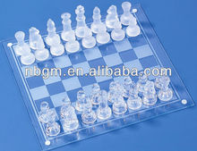 Glass Chess Set Glass Chess Game/outdoor chess set