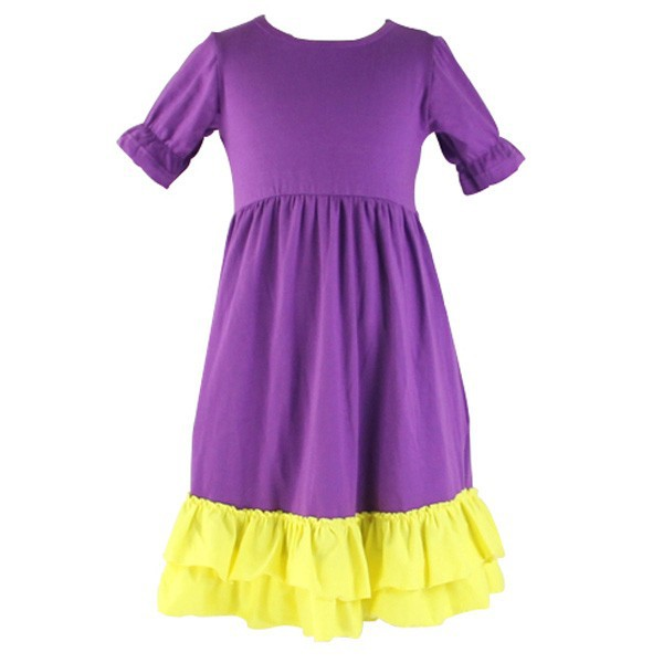 Wholesale children's boutique clothes baby 0-6years girls summer cotton ruffle dress