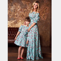 OEM manufacturer party dress new arrive custom matching floral mom and me dress sets