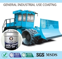 Air drying brushed aluminum spray paint for construction machines
