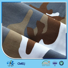 Good quality poly cotton twill camo white brown blue colors fabric