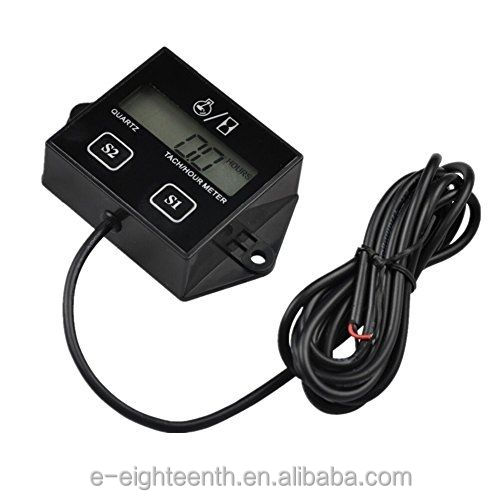 2016 Digital Engine Tach Tachometer Hour Meter Inductive for Motorcycle