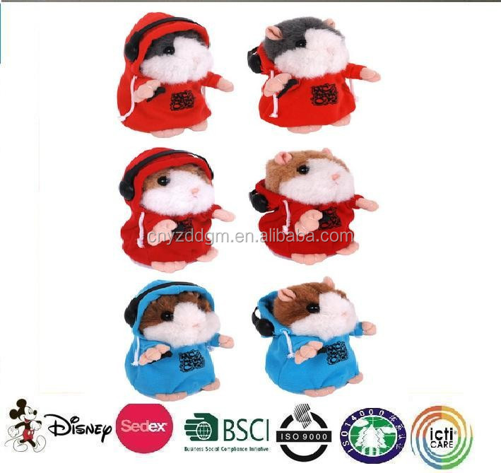 mini voice recorder for plush toy/plulsh hamster/stuffed hamster toy
