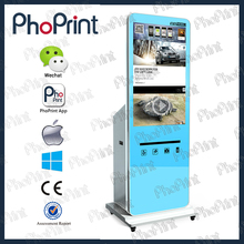 OEM wechat cellphone photo print machine LCD advertising monitor customize offer Instagram photo kisok case shell OEM service
