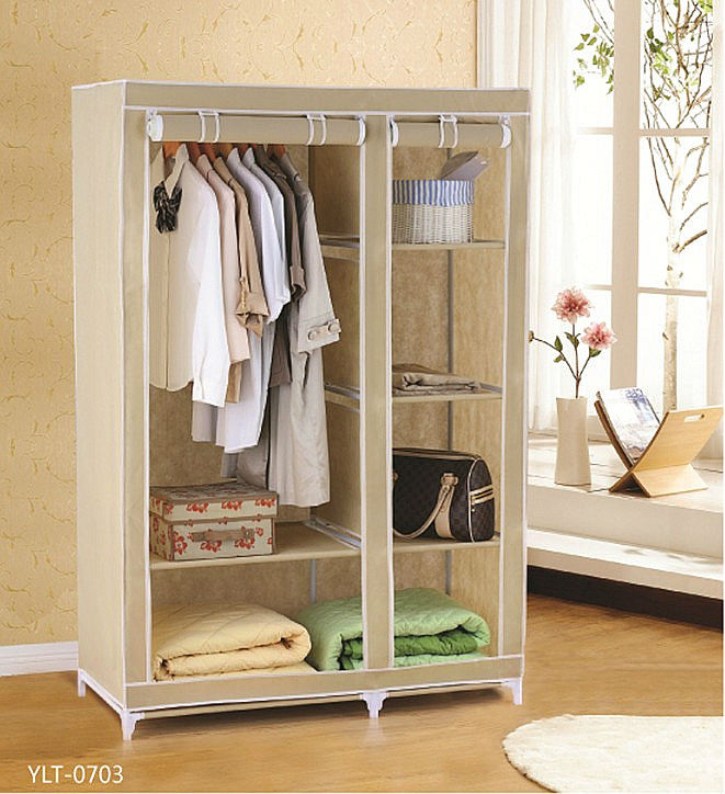 Fabric clothes folding drawers rack