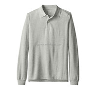mens solid color long sleeve polo t shirt with pockect