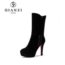 8205 Kid suede leather womens online sale fetish leather boots in high heels for ladies