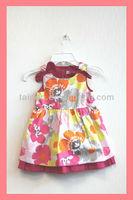100% Cotton Latest Frock Designs Flower Girl Dresses Kids Girls Dresses
