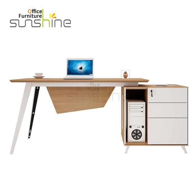 Modern L shape executive office furniture manager office table design