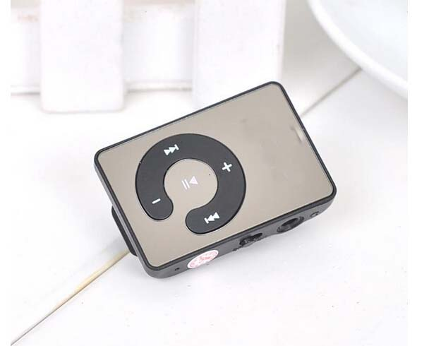 Mini Mirror Clip USB Digital Mp3 Music Player Support 8GB SD TF Card 7 Colors can Choose