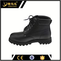 crazy horse leather safety shoes high cut safety shoes Men's Work Boot /Safety Shoes