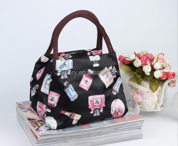 Hot Sale oxford small canvas polyester mummy bag lunch nappy handbag tote bag 23*15*17cm