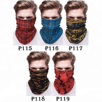KaPin fashion sports neck scarf tube bandana stretchy decorative headbands for men women