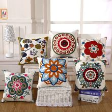 Pure cotton embroidery towel embroidered pillow sofa cushion cover
